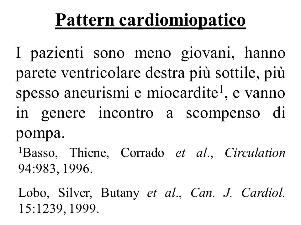 Pattern cardiomiopatico