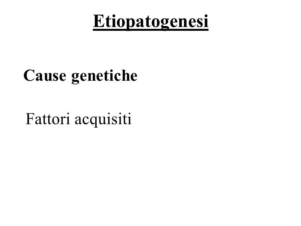 Etiopatogenesi Cause genetiche Fattori acquisiti 41/69
