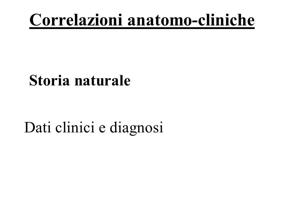 Correlazioni anatomo-cliniche