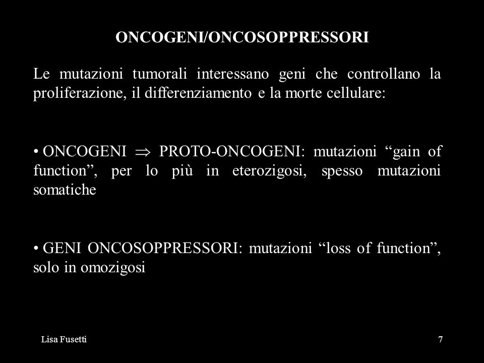 ONCOGENI/ONCOSOPPRESSORI