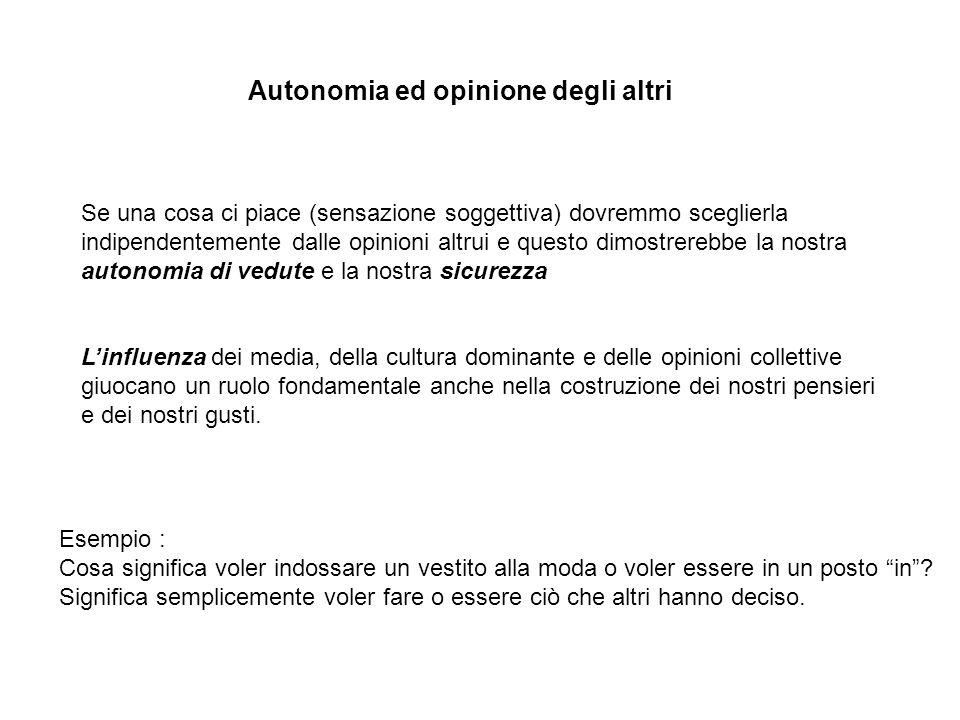 Autonomia ed opinione degli altri