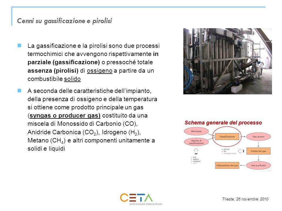 Cenni su gassificazione e pirolisi