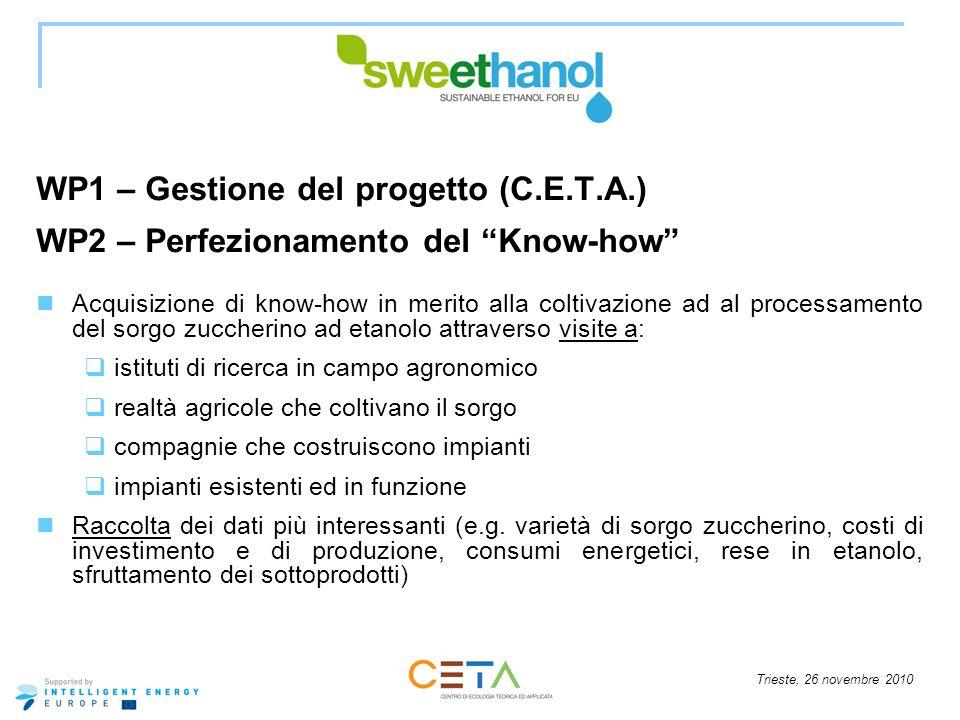 WP1 – Gestione del progetto (C.E.T.A.)