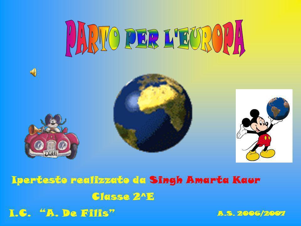 PARTO PER L EUROPA Ipertesto realizzato da Singh Amarta Kaur