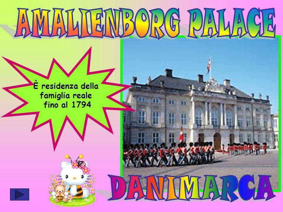 AMALIENBORG PALACE DANIMARCA È residenza della famiglia reale