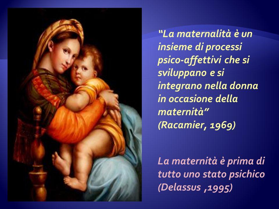 La maternalità è un insieme di processi psico-affettivi che si sviluppano e si integrano nella donna in occasione della maternità