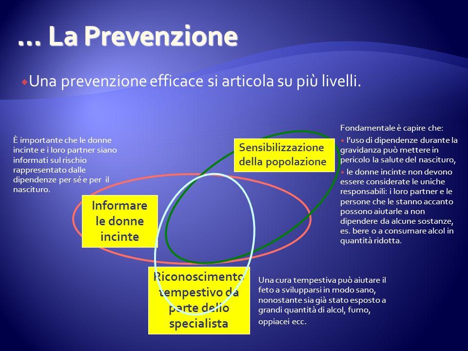 … La Prevenzione Una prevenzione efficace si articola su più livelli.