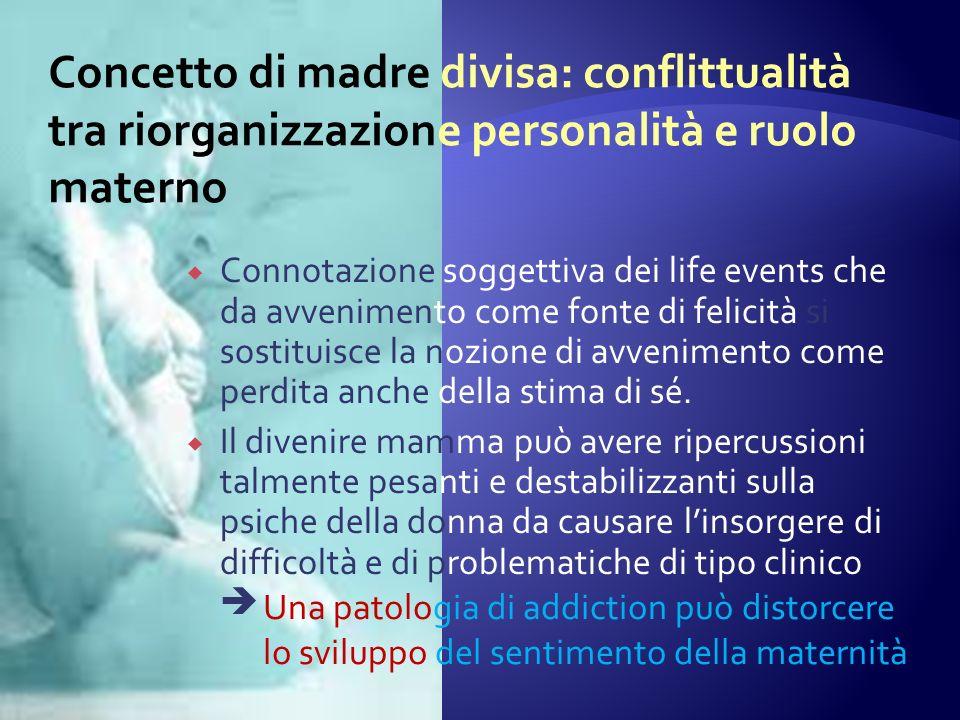 Concetto di madre divisa: conflittualità tra riorganizzazione personalità e ruolo materno