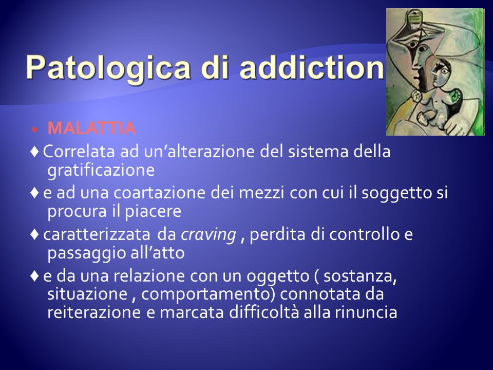 Patologica di addiction