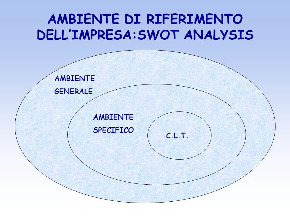 AMBIENTE DI RIFERIMENTO DELL'IMPRESA:SWOT ANALYSIS