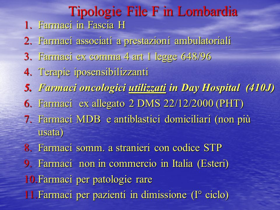 Tipologie File F in Lombardia