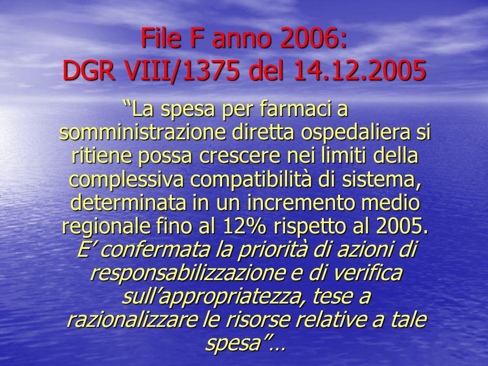 File F anno 2006: DGR VIII/1375 del 14.12.2005