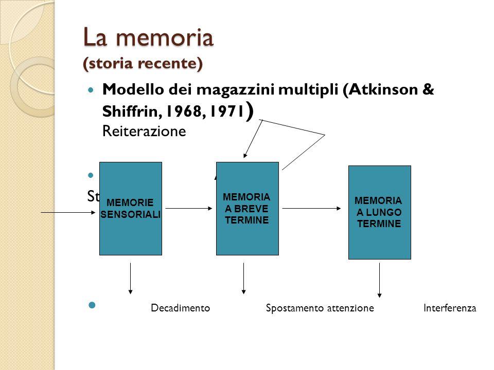 La memoria (storia recente)