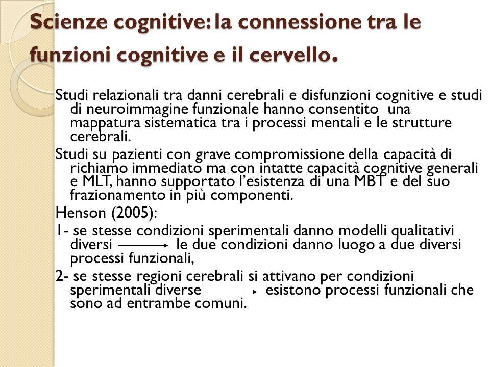 Scienze cognitive: la connessione tra le funzioni cognitive e il cervello.