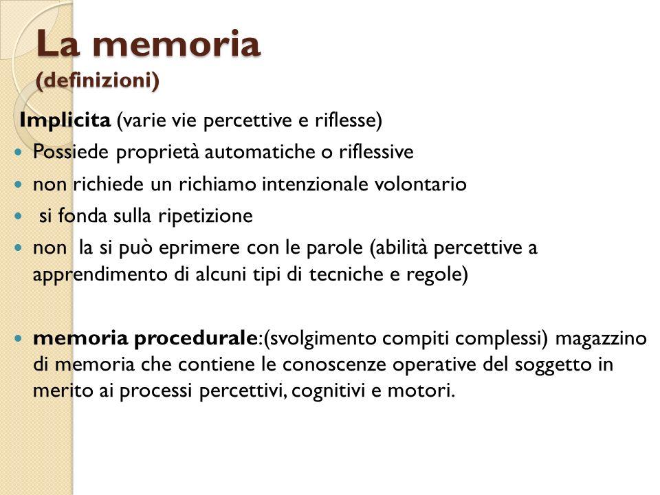 La memoria (definizioni)