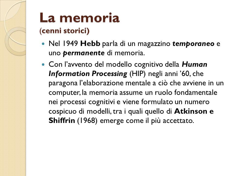La memoria (cenni storici)