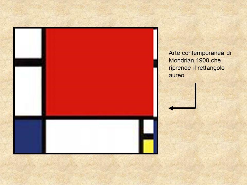 Arte contemporanea di Mondrian,1900,che riprende il rettangolo aureo.