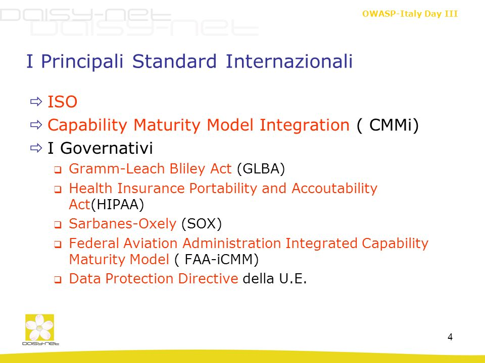 I Principali Standard Internazionali