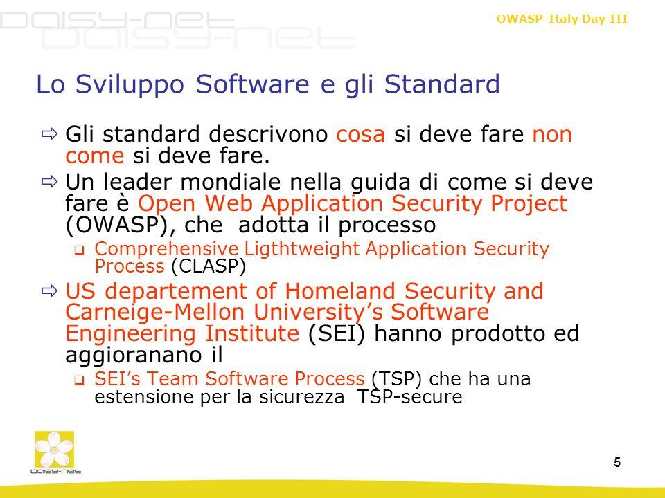 Lo Sviluppo Software e gli Standard