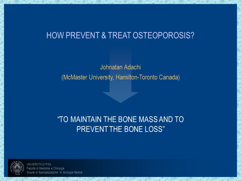 HOW PREVENT & TREAT OSTEOPOROSIS