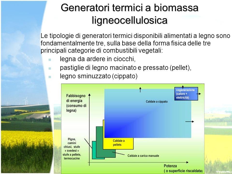 Generatori termici a biomassa ligneocellulosica
