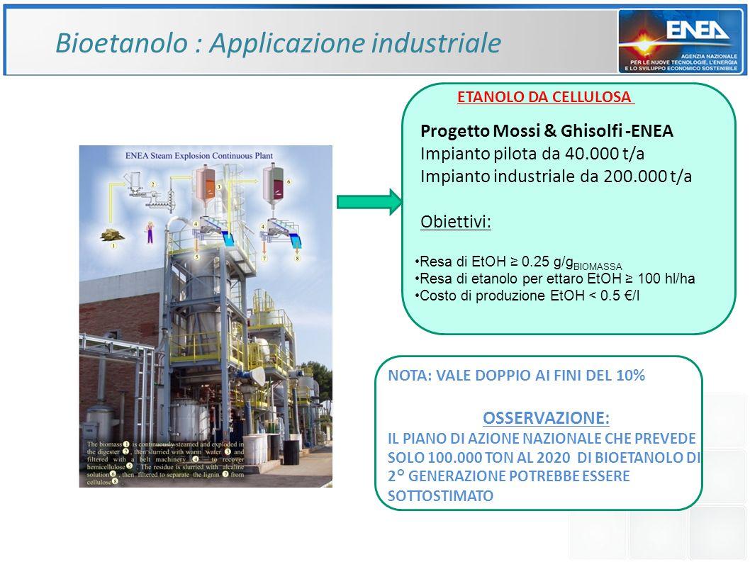 Bioetanolo : Applicazione industriale