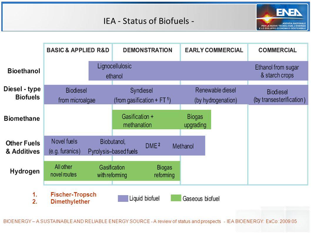 IEA - Status of Biofuels -