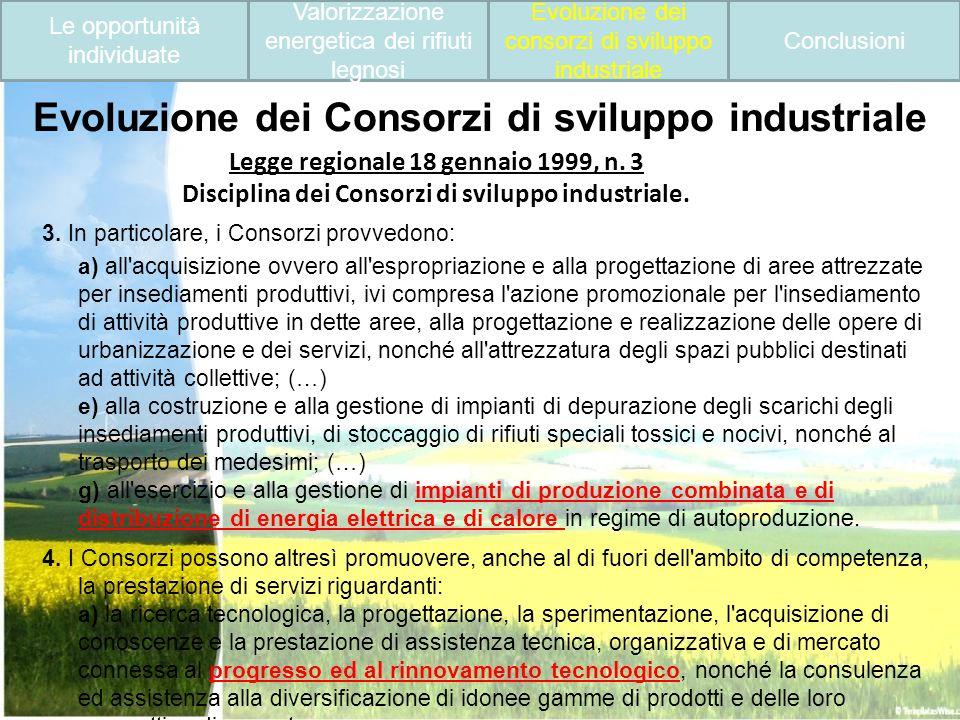Evoluzione dei Consorzi di sviluppo industriale