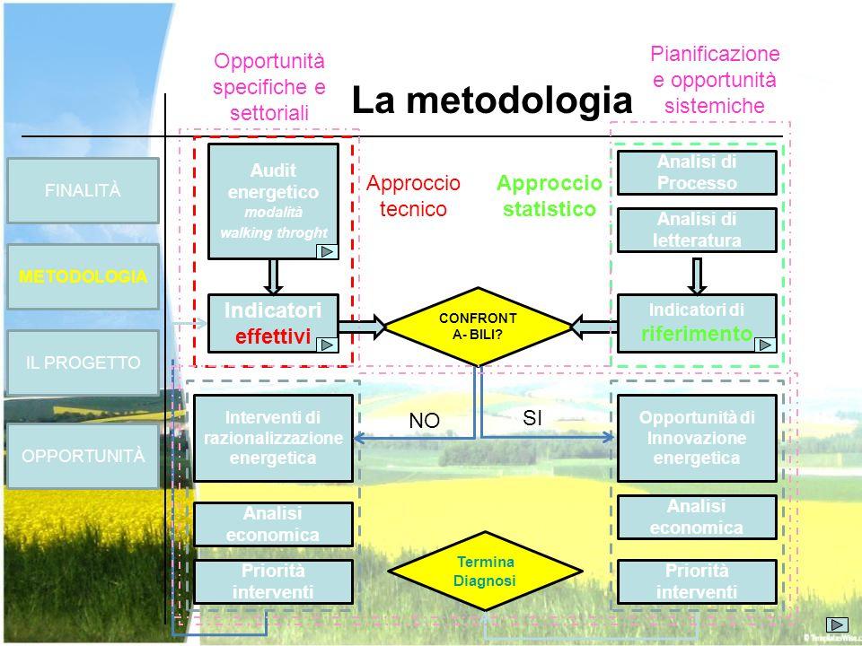 La metodologia Pianificazione e opportunità sistemiche