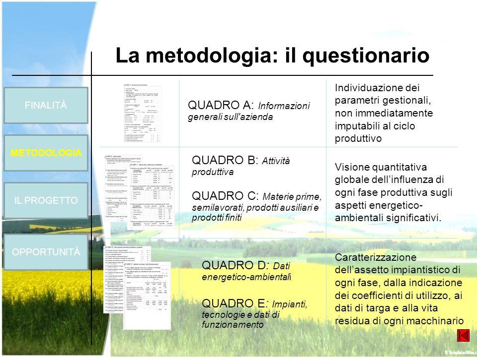 La metodologia: il questionario
