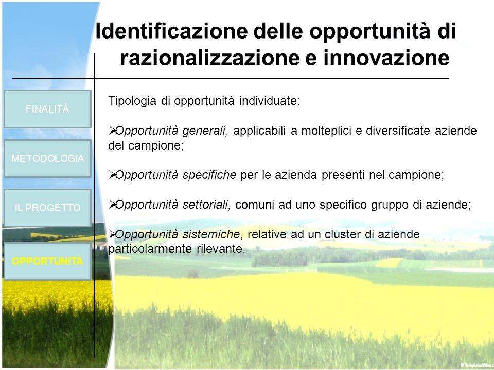 Identificazione delle opportunità di razionalizzazione e innovazione