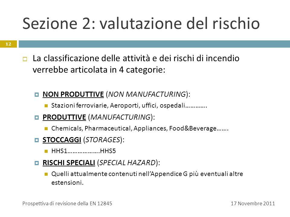 Sezione 2: valutazione del rischio