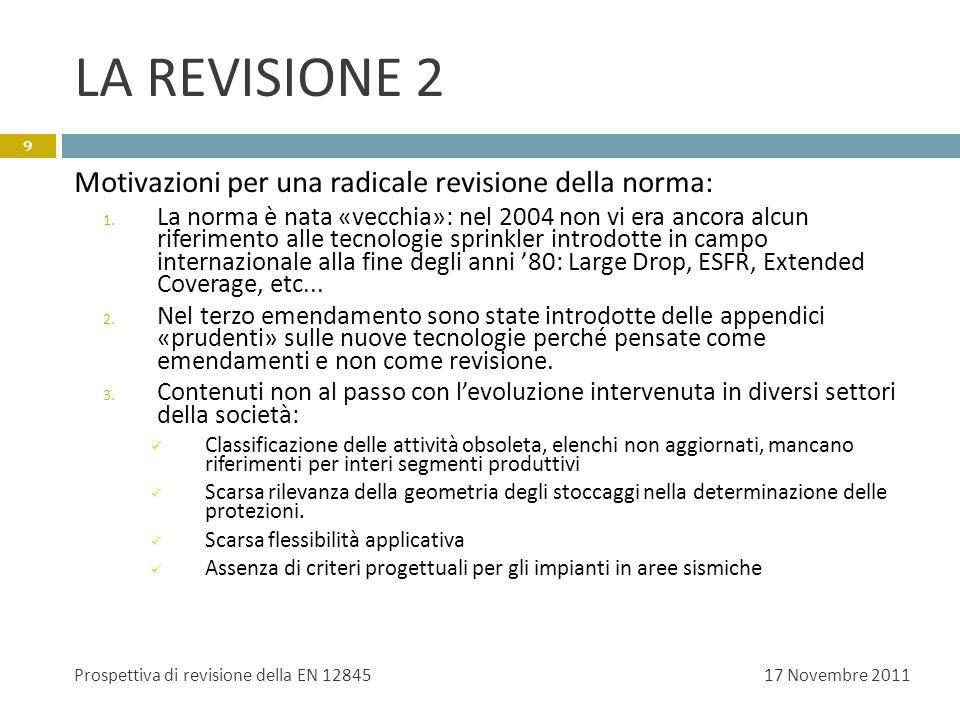 LA REVISIONE 2 Motivazioni per una radicale revisione della norma: