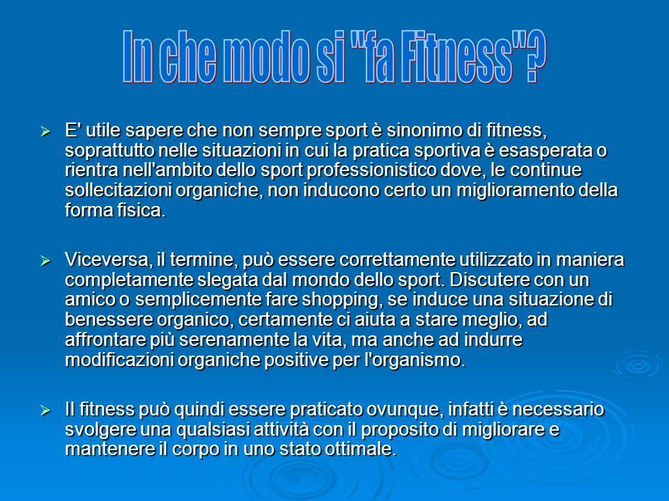 In che modo si fa Fitness