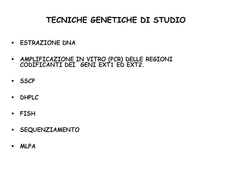 TECNICHE GENETICHE DI STUDIO