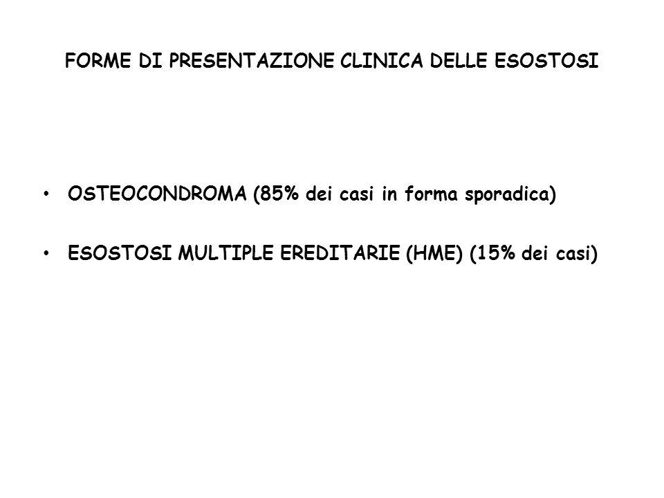 FORME DI PRESENTAZIONE CLINICA DELLE ESOSTOSI