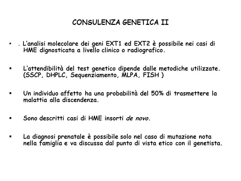 CONSULENZA GENETICA II