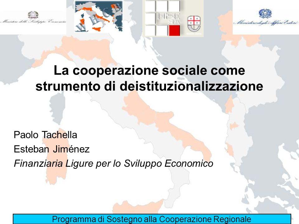 La cooperazione sociale come strumento di deistituzionalizzazione