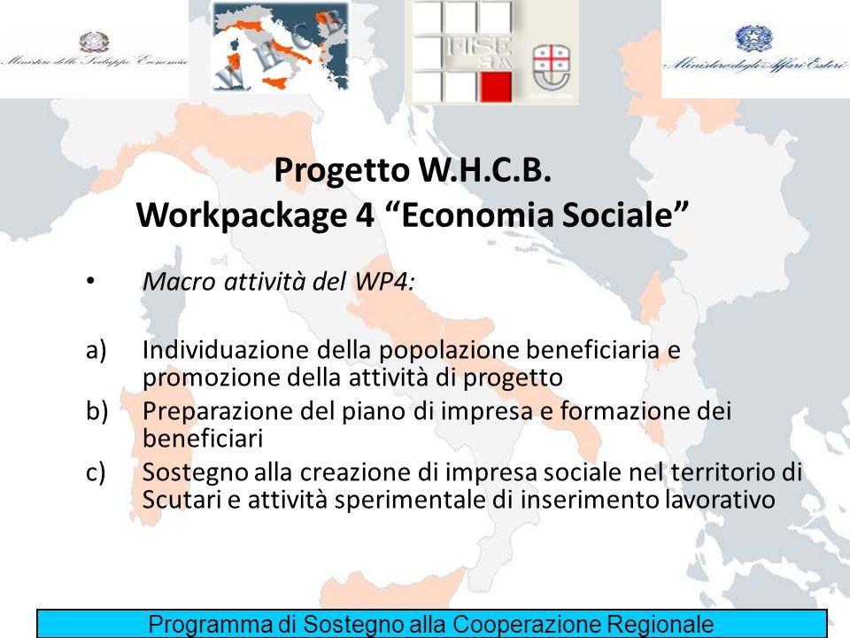 Progetto W.H.C.B. Workpackage 4 Economia Sociale