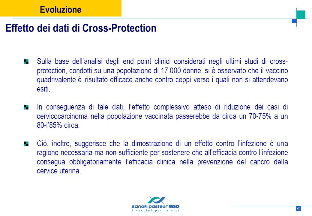Effetto dei dati di Cross-Protection