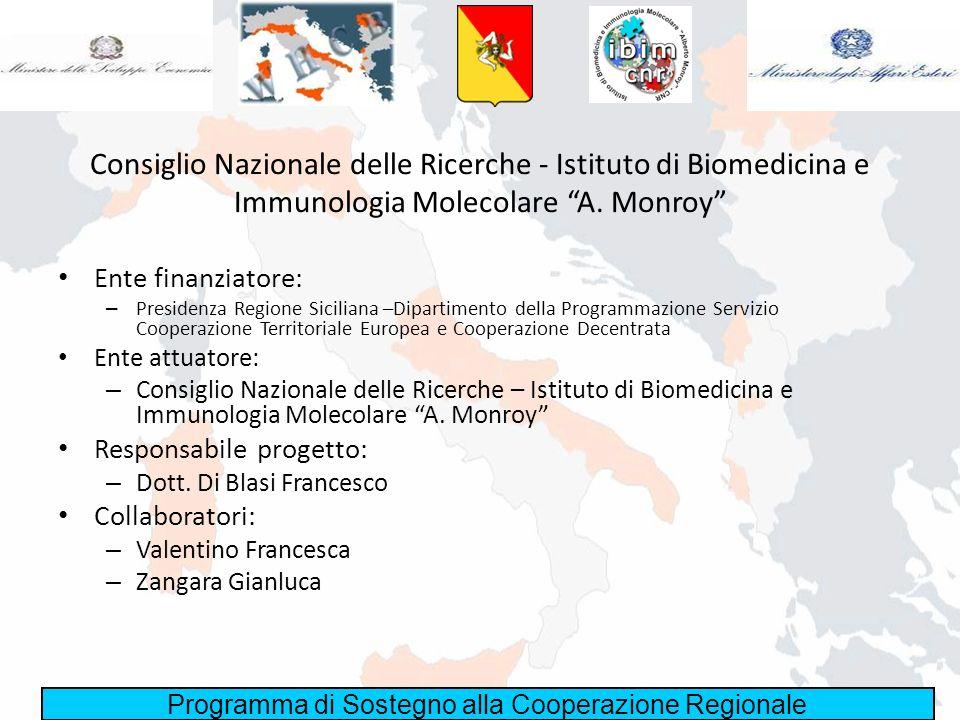 Consiglio Nazionale delle Ricerche - Istituto di Biomedicina e Immunologia Molecolare A. Monroy