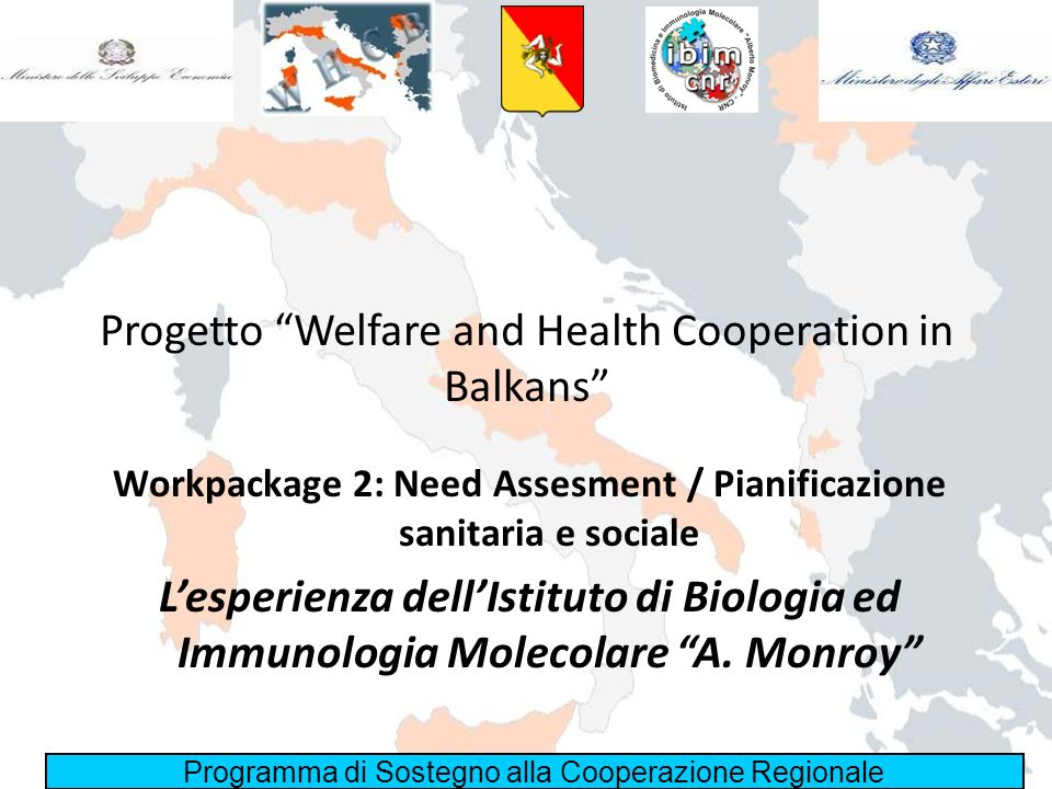 Progetto Welfare and Health Cooperation in Balkans