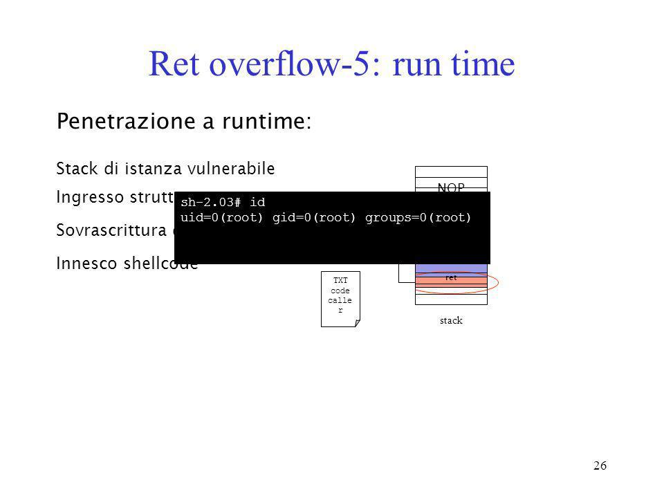 Ret overflow-5: run time