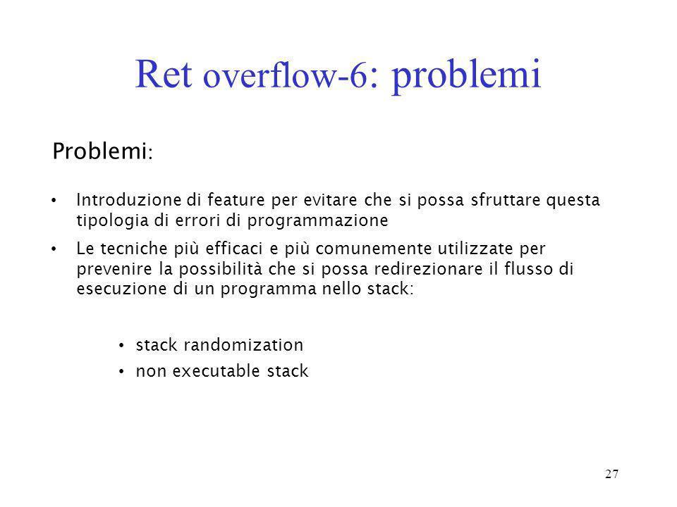 Ret overflow-6: problemi