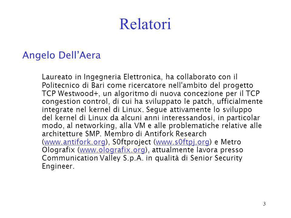 Relatori Angelo Dell'Aera