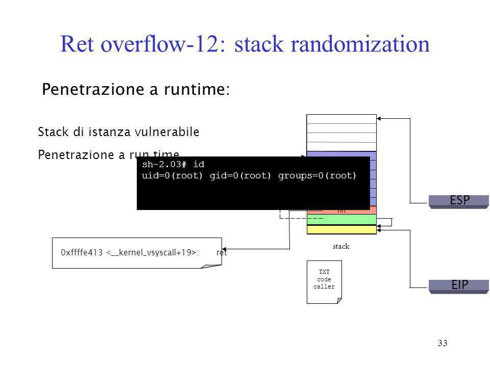 Ret overflow-12: stack randomization
