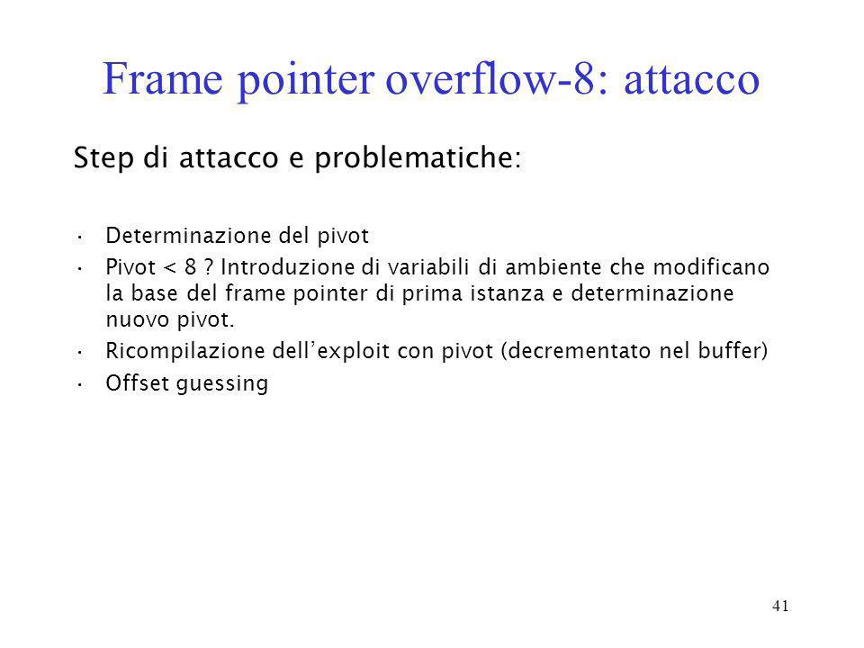 Frame pointer overflow-8: attacco