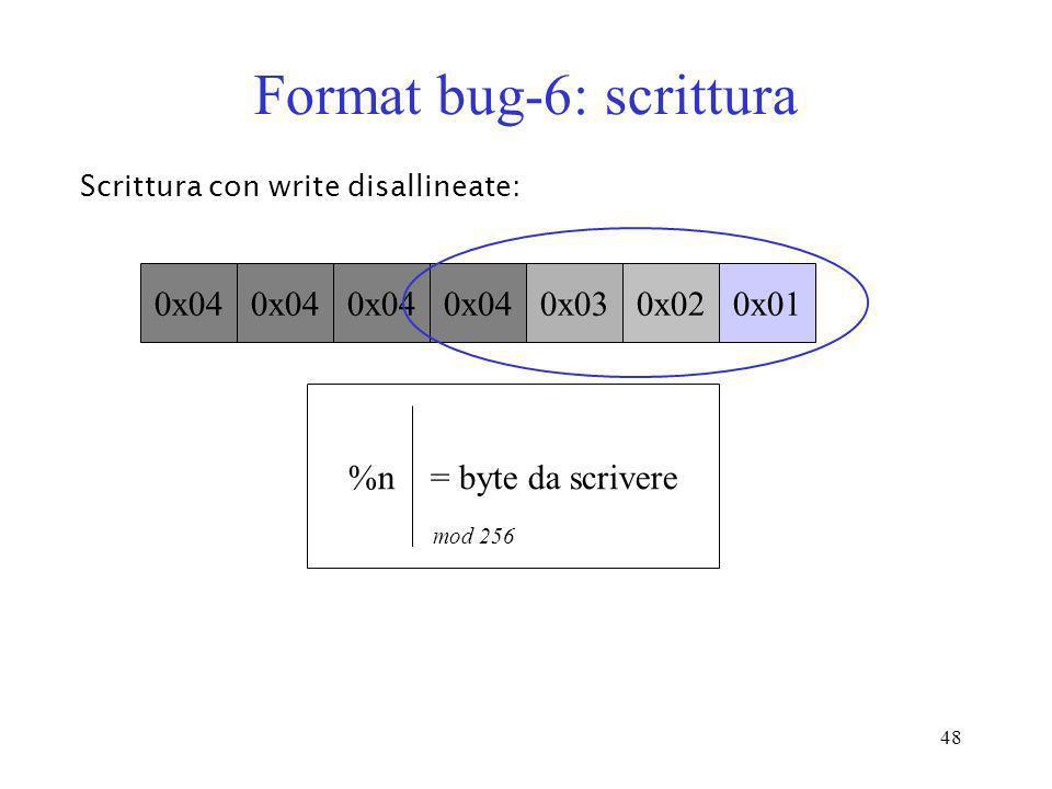 Format bug-6: scrittura
