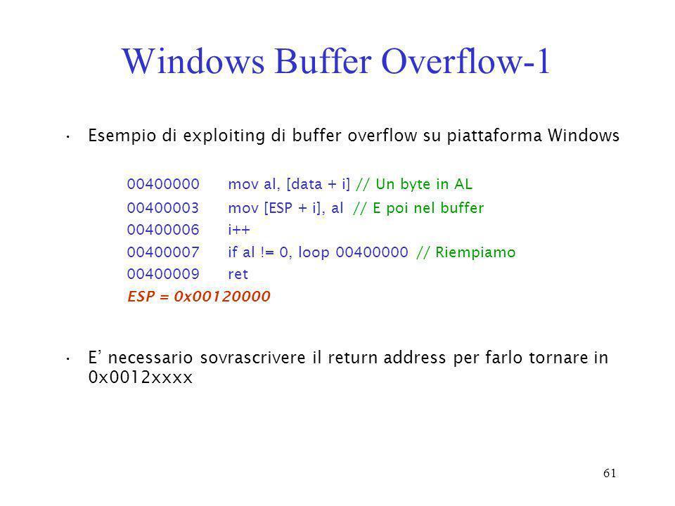 Windows Buffer Overflow-1