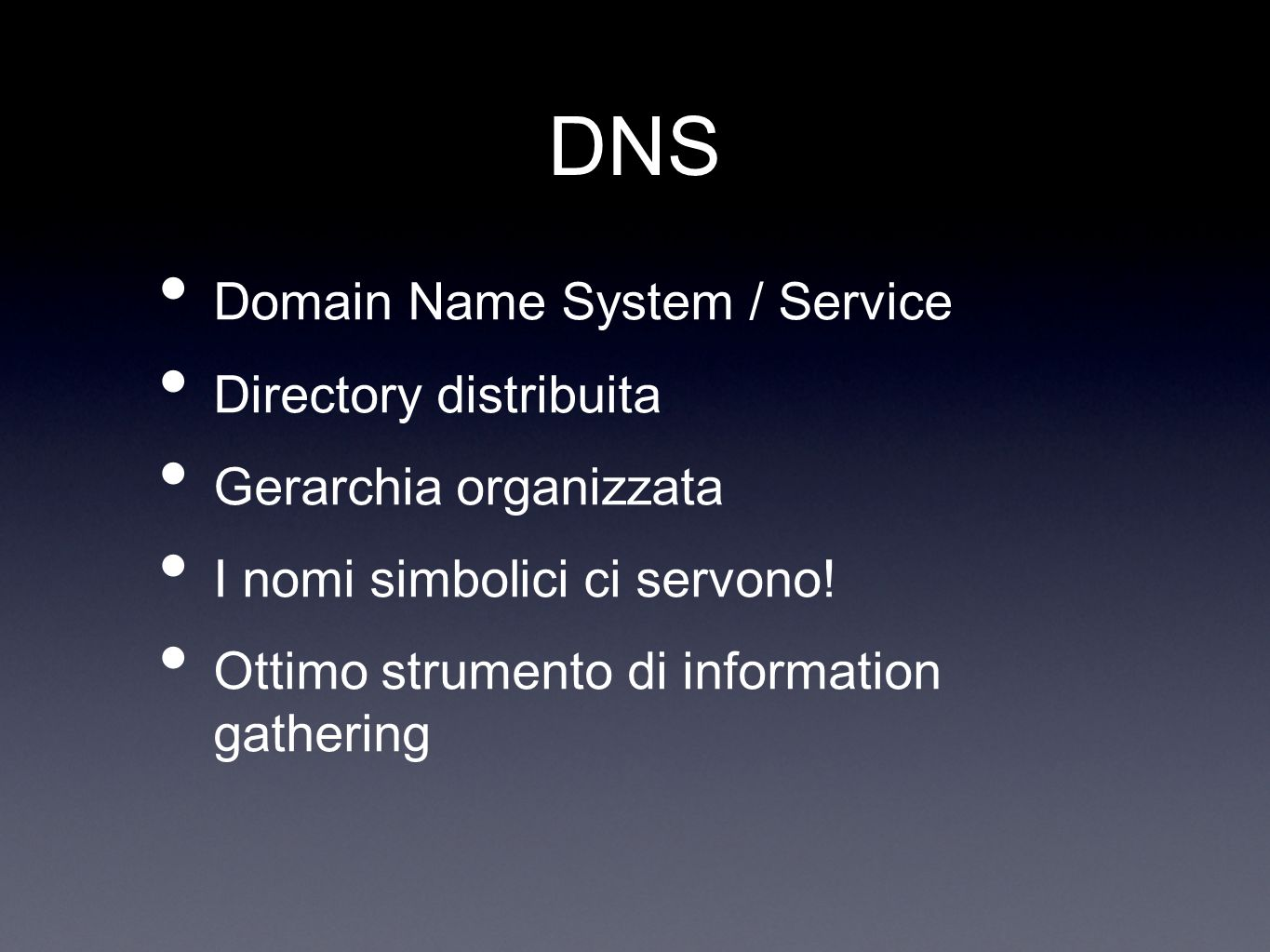 DNS Domain Name System / Service Directory distribuita